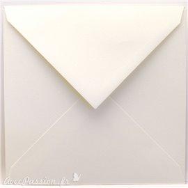 Enveloppes carré blanc irisé 15.5x15.5cm qu50