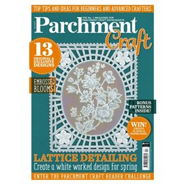 Parchment Craft magazine Pergamano avril 2018 Lattice Detailing