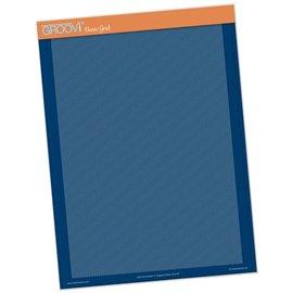 Groovi gabarit piquage type grille parchemin diagonal super fin format A4