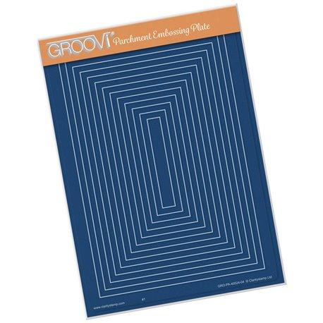 Gabarit tracage rectangles imbriqués Groovi pour Pergamano