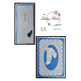 Patrons Lesley Shore robe et escarpin Pergamano pattern 14