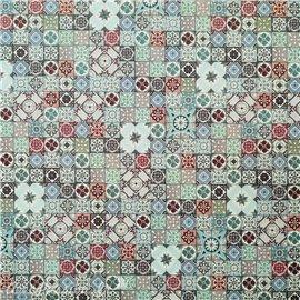 Papier tassotti à motifs mosaïque multicolore