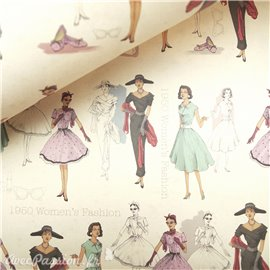 Papier tassotti à motifs mode 1950