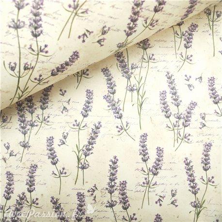 Papier tassotti à motifs lavande