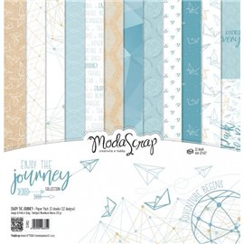Papier scrapbooking assortiment enjoy the journey 12f