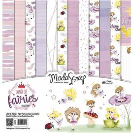 Papier scrapbooking assortiment land of fairies 12f 15x15