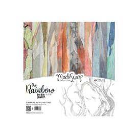 Papier scrapbooking assortiment the rainbow bark 12f