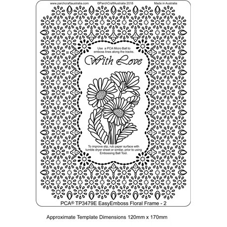 Template PCA gabarit tracage cadre fleurs