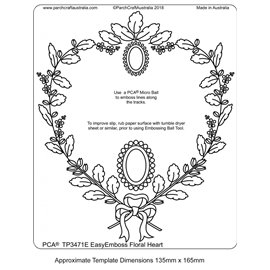 Template PCA gabarit tracage coeur floral