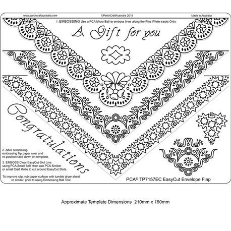 Gabarit easycut PCA coupe le parchemin enveloppe bordure