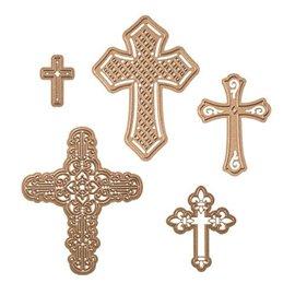Dies découpe gaufrage croix Shapeabilities Spellbinders