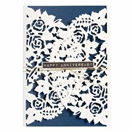 Dies découpe gaufrage fond floral décoratif Designer Series Spellbinders