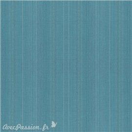 Simili imitation toile enduite texmex bleu turquoise chiné