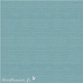 Simili imitation toile enduite texmex bleu mer chiné