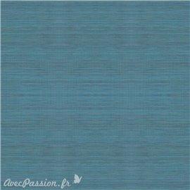 Simili imitation toile enduite texmex bleu chiné