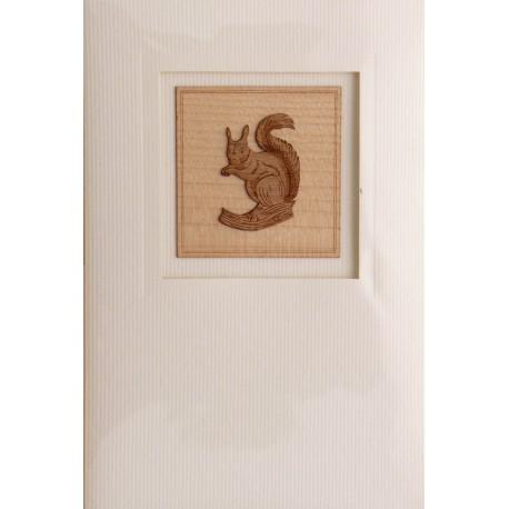 Gravure sur bois écureuil