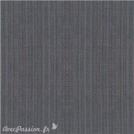 Simili imitation toile enduite texmex gris chiné