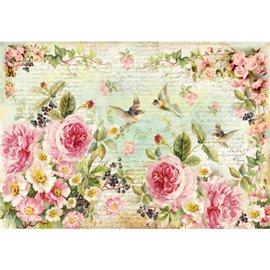 Papier de riz Stamperia shabby chic roses