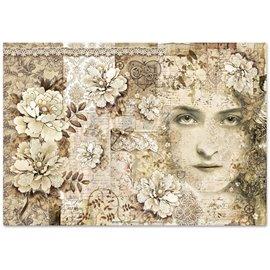 Papier de riz Stamperia old lace visage