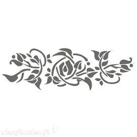 Pochoir plastique bouton de roses 7x60cm