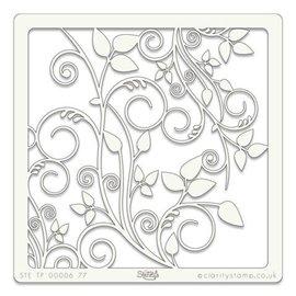 Pochoir plastique fleurs et feuille 21x29.7cm