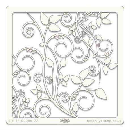 Pochoir plastique arabesques art stencil 16x16cm