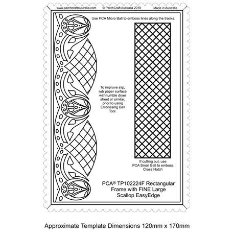 Template PCA gabarit traçage frise et mosaïque