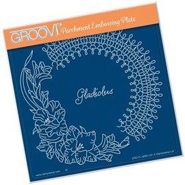 Groovi gabarit tracage parchemin fleurs glaeuil