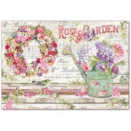 Papier de riz Stamperia shabby chic rose garden