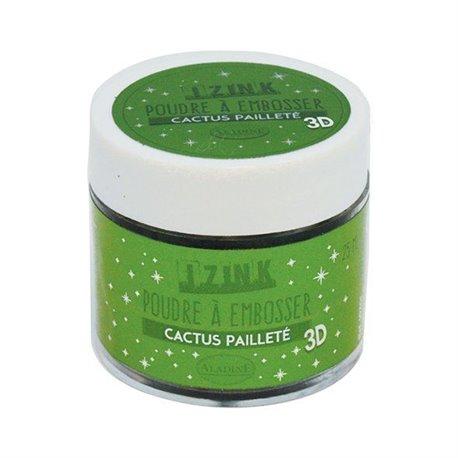 Poudre à embosser Aladine izink 25 ml cactus pailleté