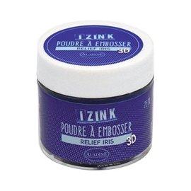 Poudre à embosser Aladine izink 25 ml bleu iris pailleté