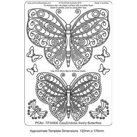 Gabarit tracage parchemin Template PCA papillon