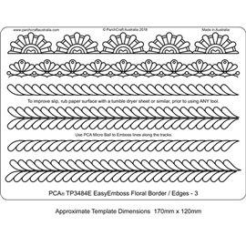 Gabarit tracage parchemin Template PCA bordures florales