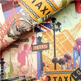 Papier motifs motifs villes du monde