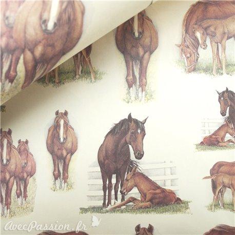 Papier tassotti à motifs chevaux