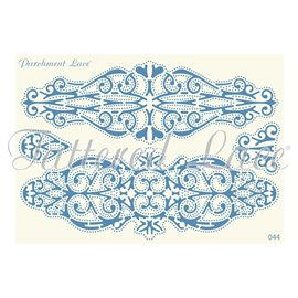 Grille parchemin motifs Tattered Lace 44 Laura