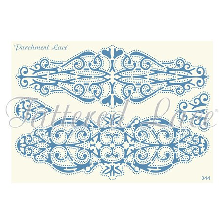 Grille parchemin motifs Tattered Lace 44 Laura