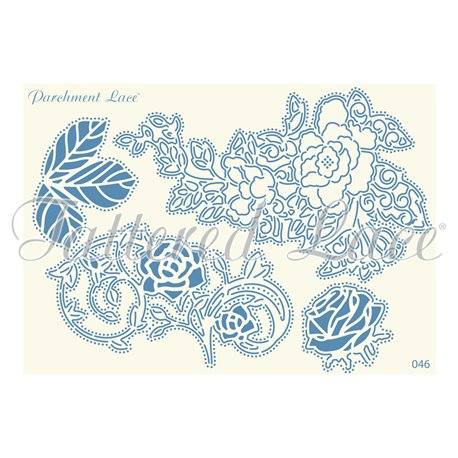 Grille parchemin motifs Tattered Lace 46 Rowan