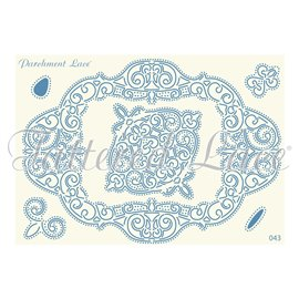 Grille parchemin motifs Tattered Lace 43 Celeste