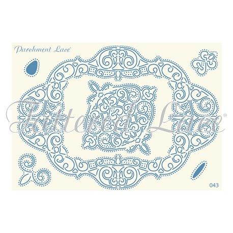 Grille parchemin motifs Tattered Lace 43 Celeste