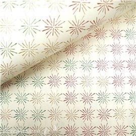Papier tassotti à motifs noel étoiles