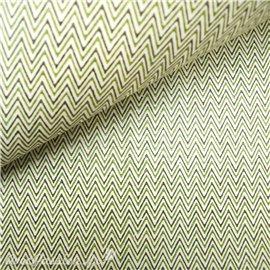 Papier tassotti à motifs noel zigzag vert