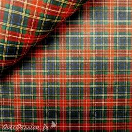 Papier tassotti à motifs écossais