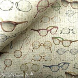 Papier tassotti à motifs lunettes