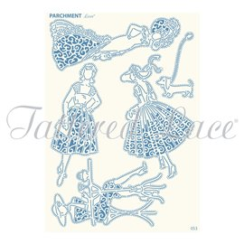 Grille parchemin motifs Tattered Lace 53 Glamour