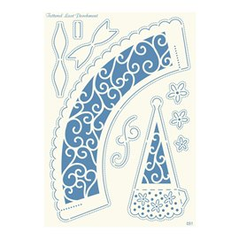 Grille parchemin motifs Tattered Lace 31 Eventail