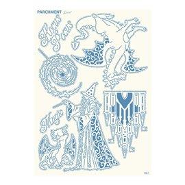Grille parchemin motifs Tattered Lace 61 Magie