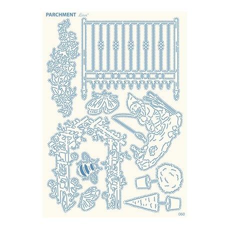 Grille parchemin motifs Tattered Lace 60 Jardin