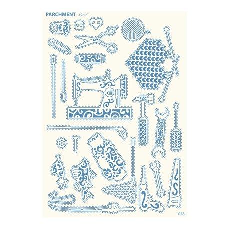 Grille parchemin motifs Tattered Lace 58 Hobbies
