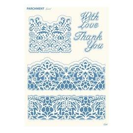 Grille parchemin motifs Tattered Lace 54 Bordures